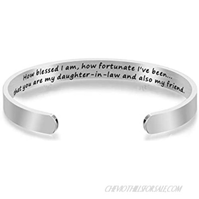 WUSUANED Daughter in Law Bracelet How Blessed I Am How Fortunate I've Been That You are My Daughter-in-Law and Also My Friend