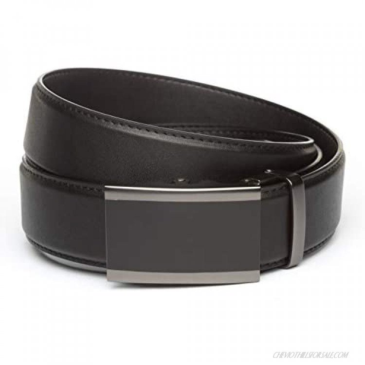 """Anson Belt & Buckle - 1.5"""" Onyx in Matte Gunmetal Buckle with Concealed Carry Ratchet Belt Strap"""
