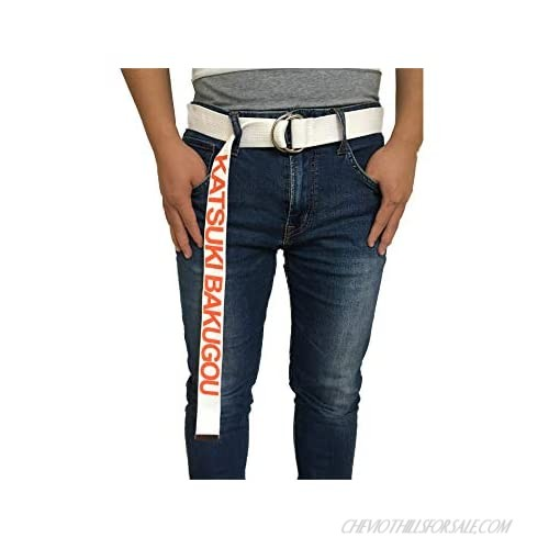 DOUEER Unisex My Hero Academia Anime Fashion D-Ring Canvas Belts