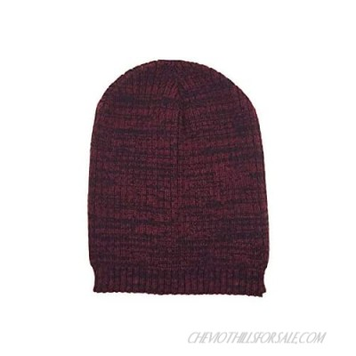 Hipster Marled Slouch Acrylic Knit Beanie Hat
