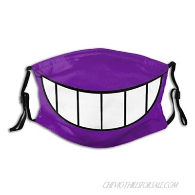 Gengar Smile Washable M-As-K Adults Breathing Reusable Adjustable Earloop Mouth Cover