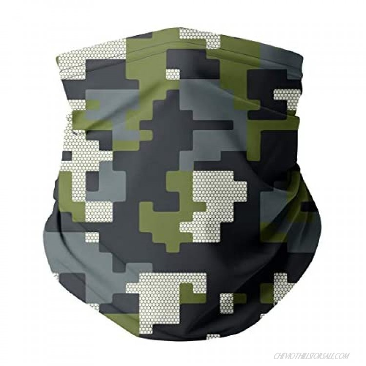 Gaiter King Neck Gaiter Cooling Face Mask Made in California from 100% Breathable Polyester – Moisture Wicking Facial Protection from Sun Dust Cold Wind – Everyday Wear (Camo Digital)