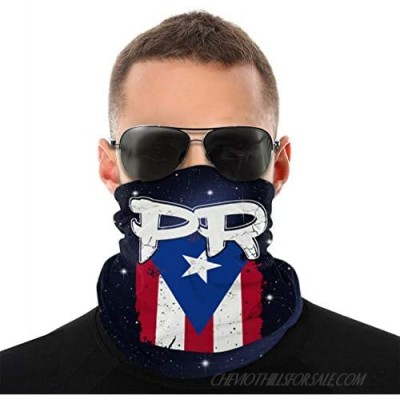 Kimisoy Puerto Rico PR Flag Boricua Half Face Cover Dust-proof Neck Gaiter Breathable Mouth Mask Soft Mouth Muffle Unisex Headwear For Shopping Climbing Outdoor